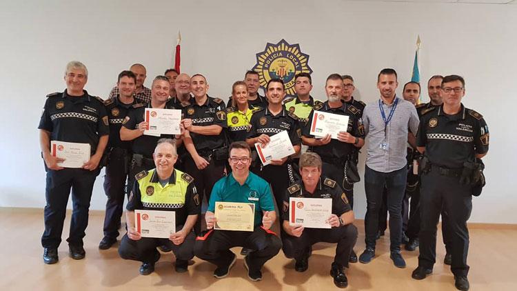 Jornada de formación en la academia de la policía local de Valencia.